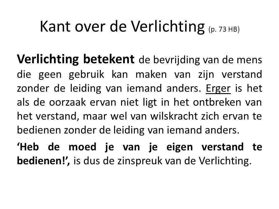 Kant over de Verlichting (p. 73 HB)