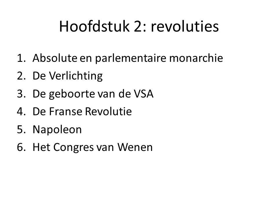 Hoofdstuk 2: revoluties
