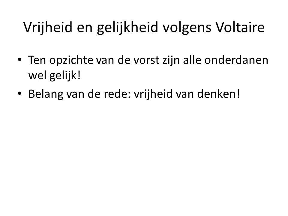 Vrijheid en gelijkheid volgens Voltaire