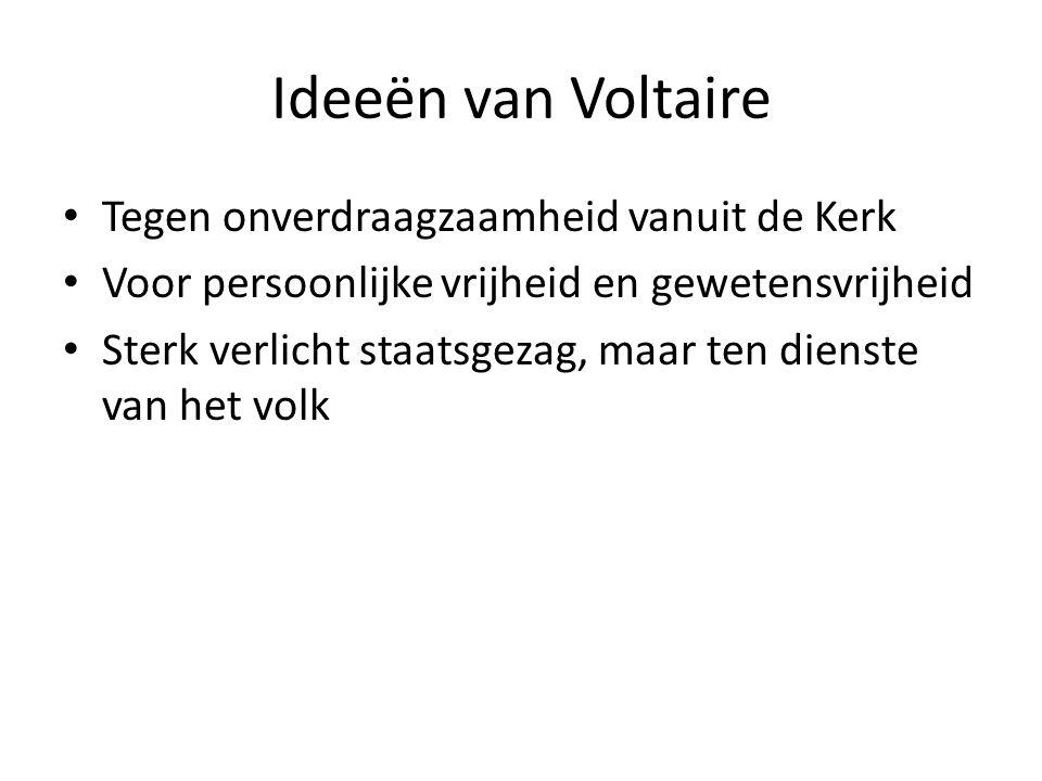 Ideeën van Voltaire Tegen onverdraagzaamheid vanuit de Kerk