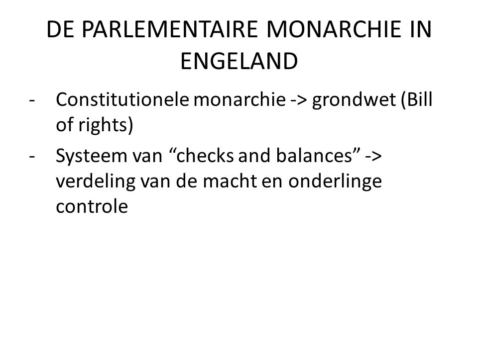 leiders constitutionele monarchie