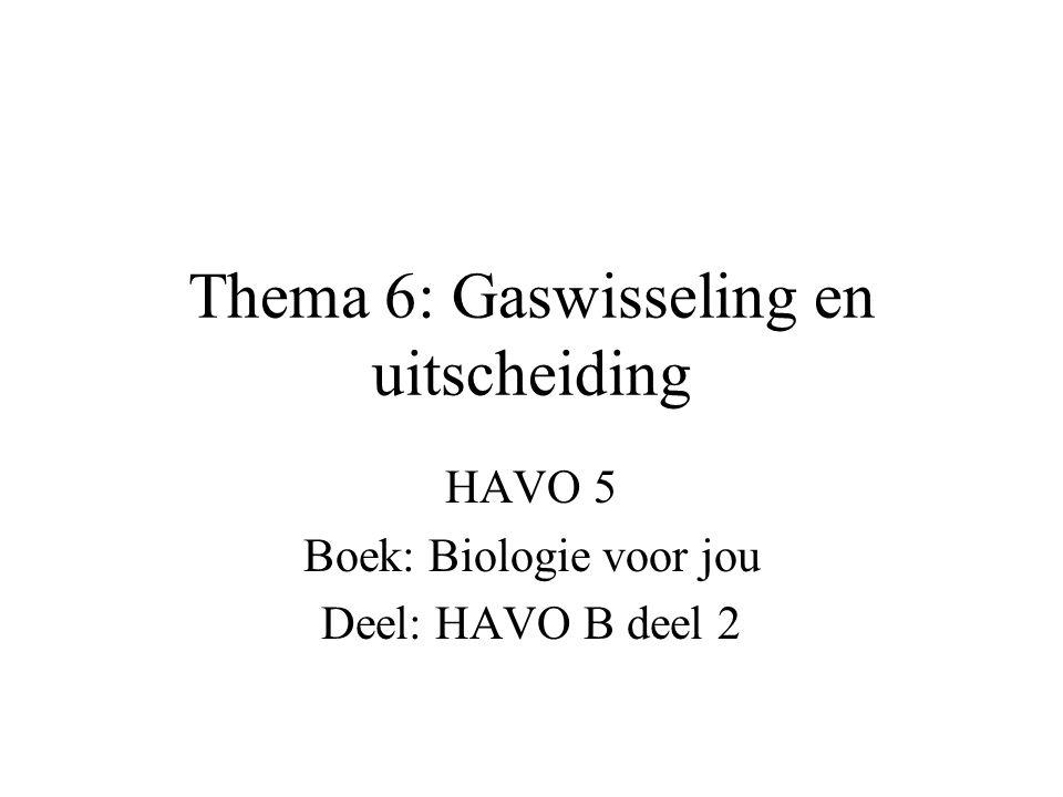 Thema 6: Gaswisseling en uitscheiding