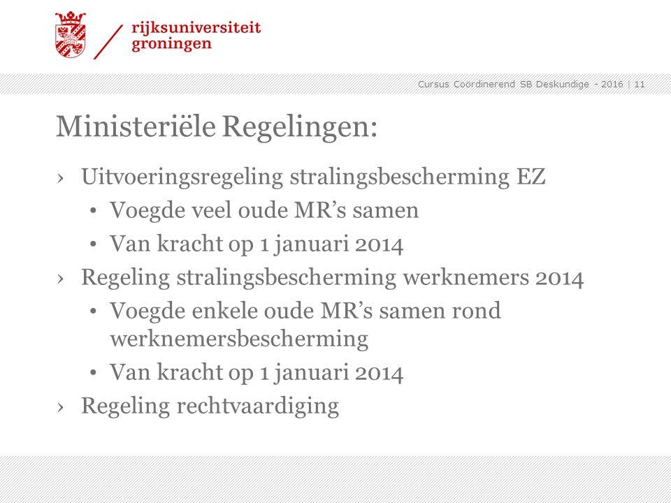 Ministeriële Regelingen:
