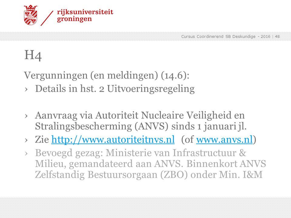 H4 Vergunningen (en meldingen) (14.6):