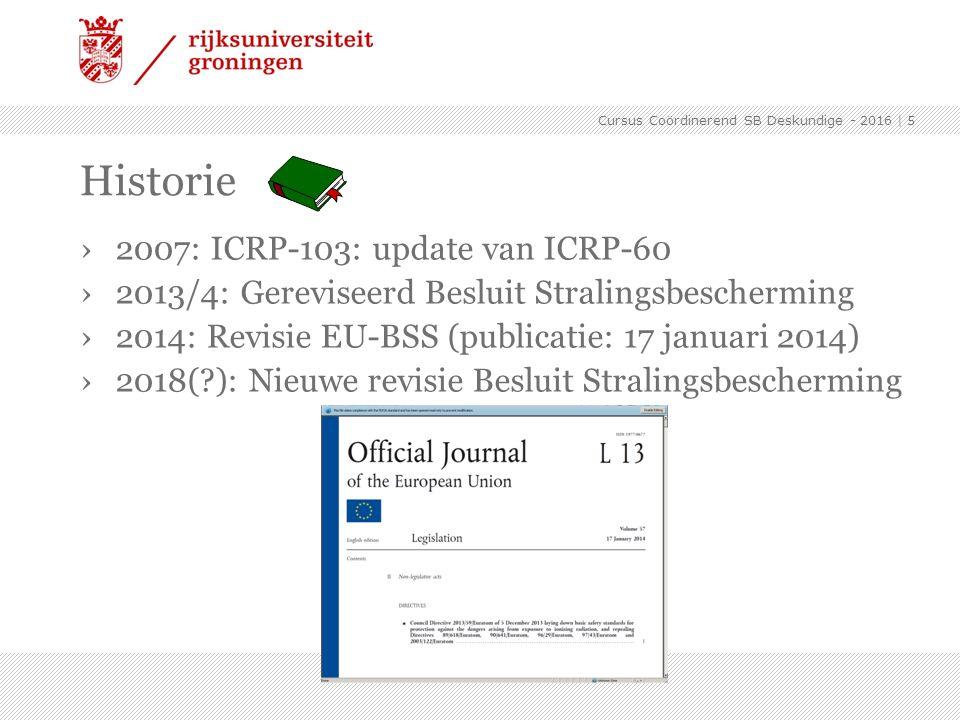 Historie 2007: ICRP-103: update van ICRP-60