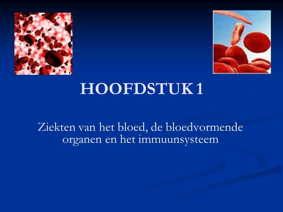 Ziekten van het bloed, de bloedvormende organen en het immuunsysteem