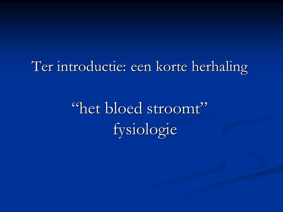 het bloed stroomt fysiologie