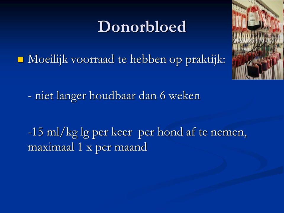Donorbloed Moeilijk voorraad te hebben op praktijk:
