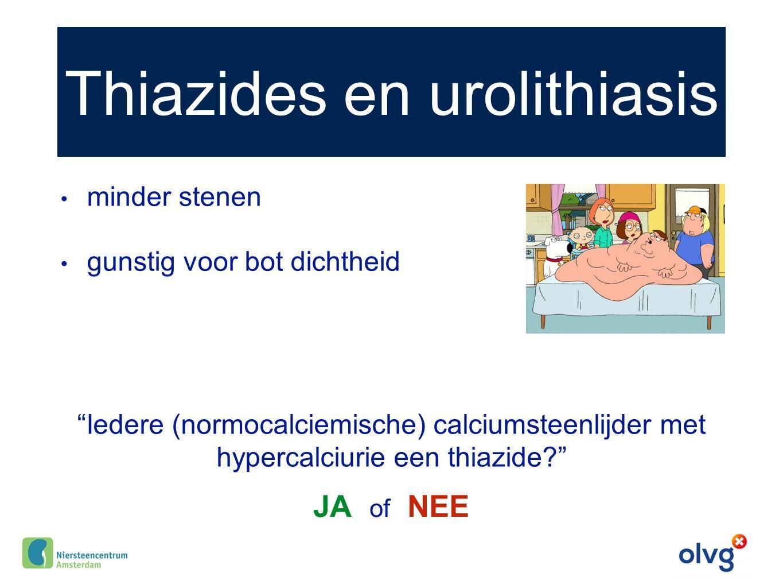 Thiazides en urolithiasis