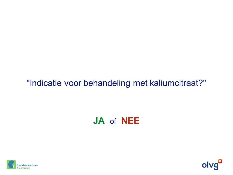 Indicatie voor behandeling met kaliumcitraat