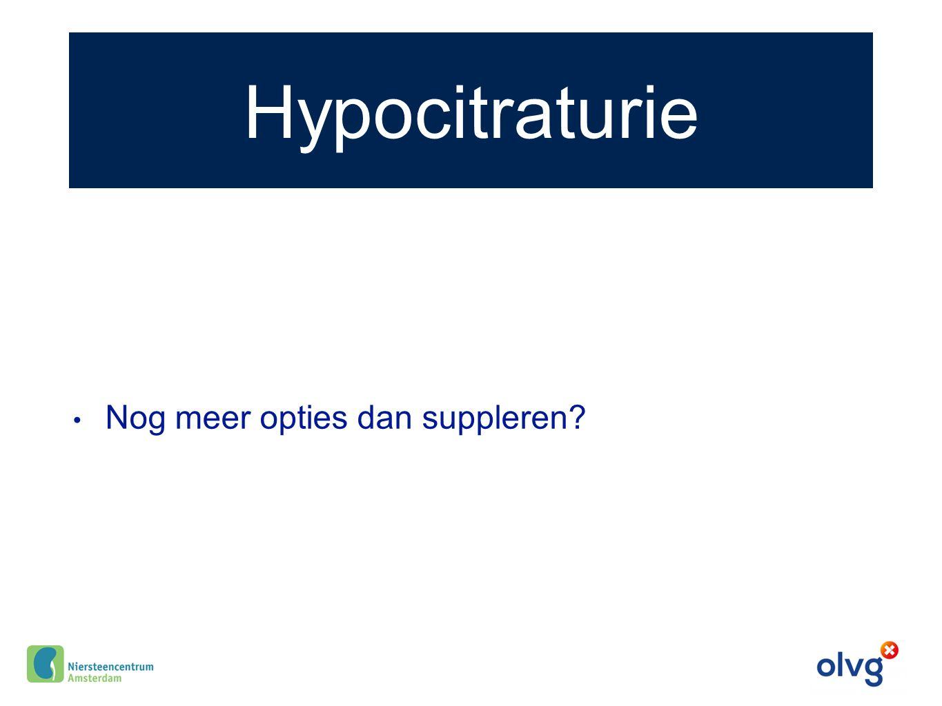 Hypocitraturie Nog meer opties dan suppleren