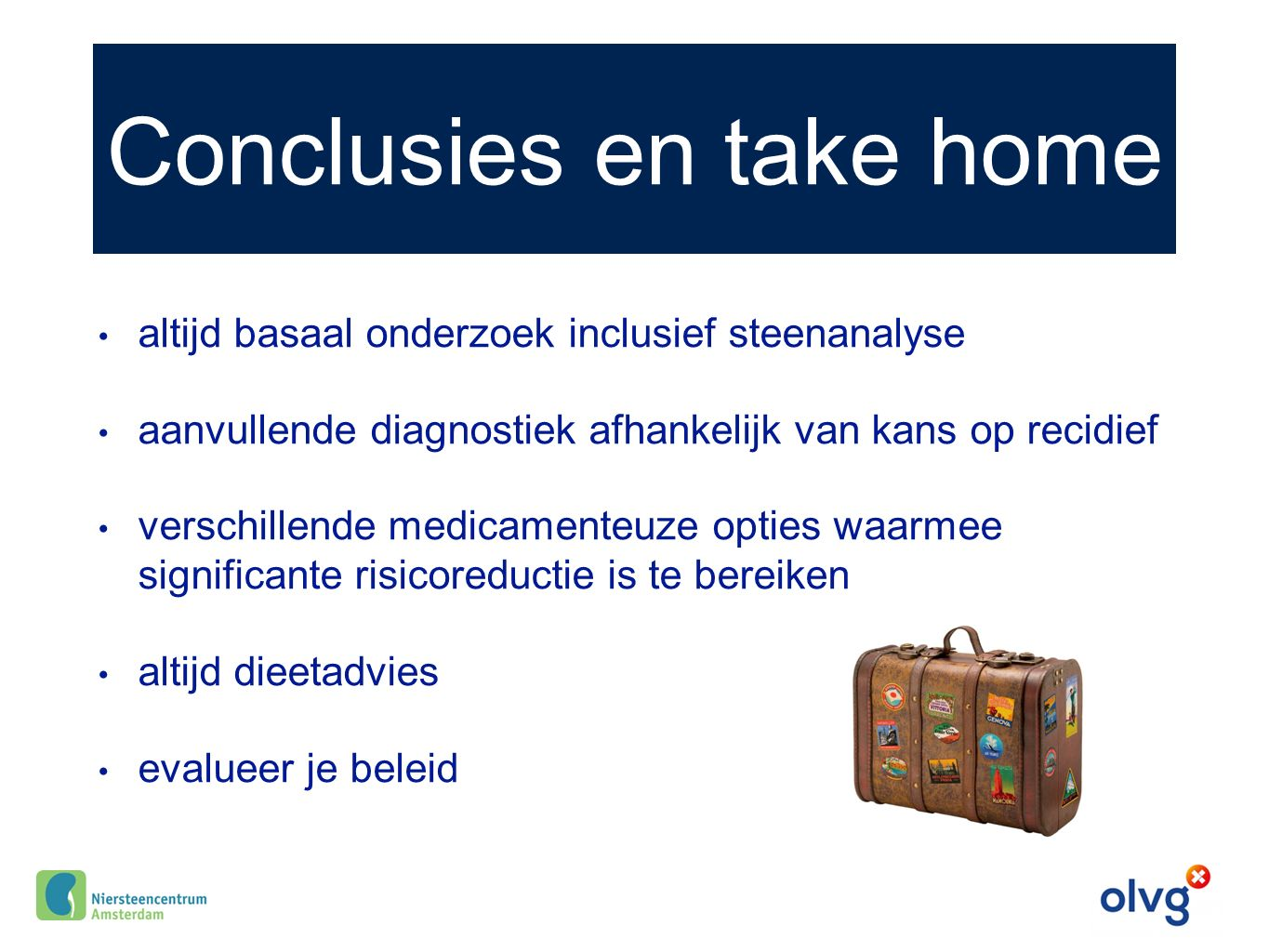 Conclusies en take home