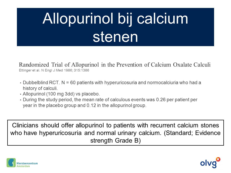 Allopurinol bij calcium stenen