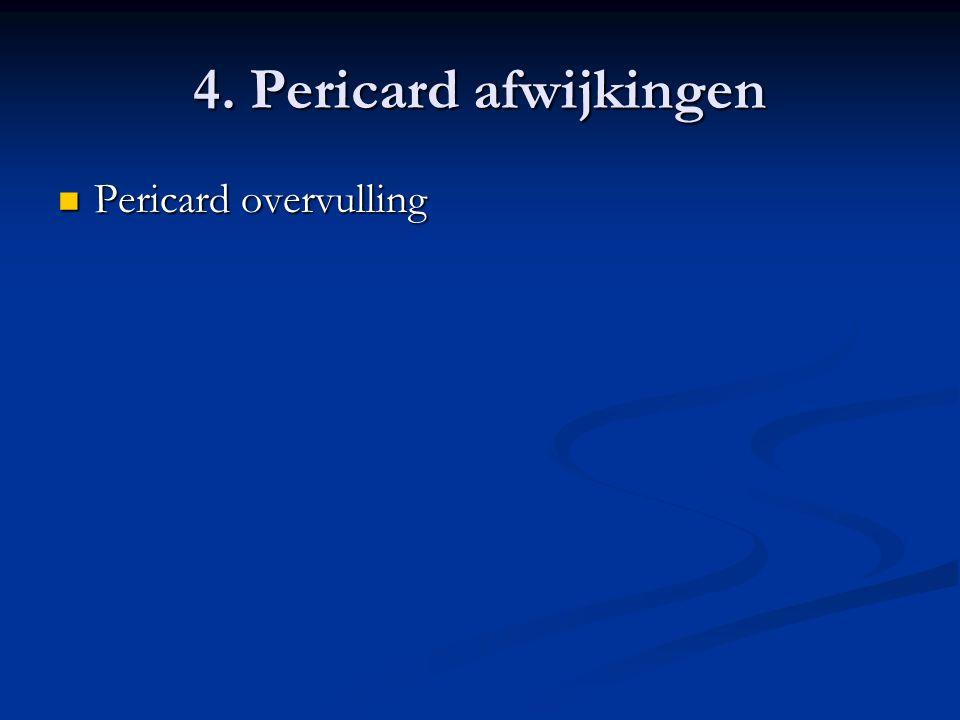 4. Pericard afwijkingen Pericard overvulling