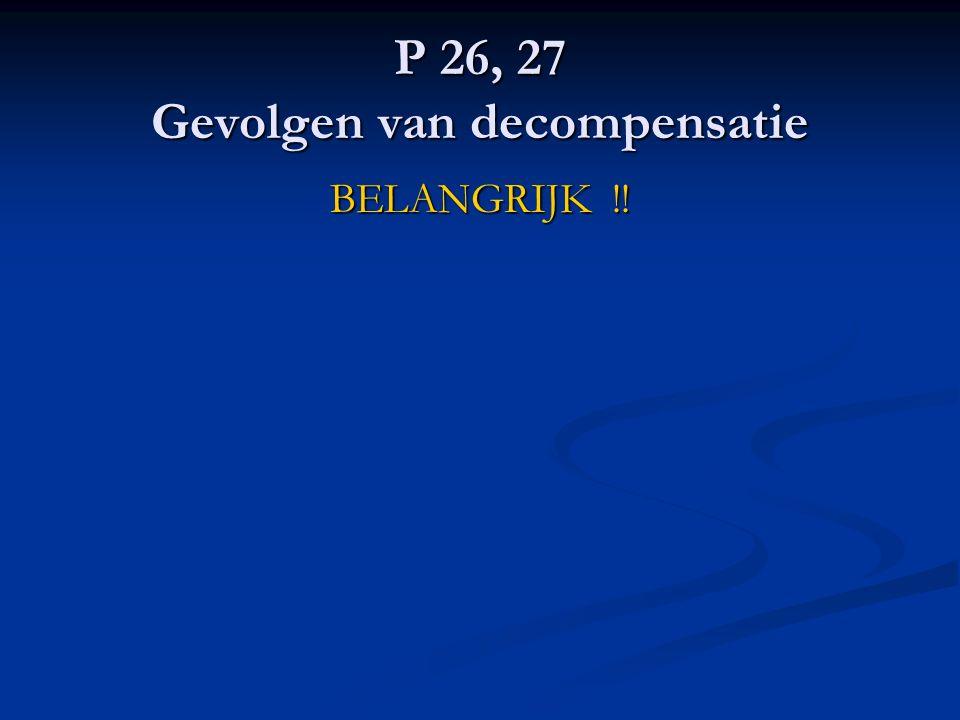 P 26, 27 Gevolgen van decompensatie