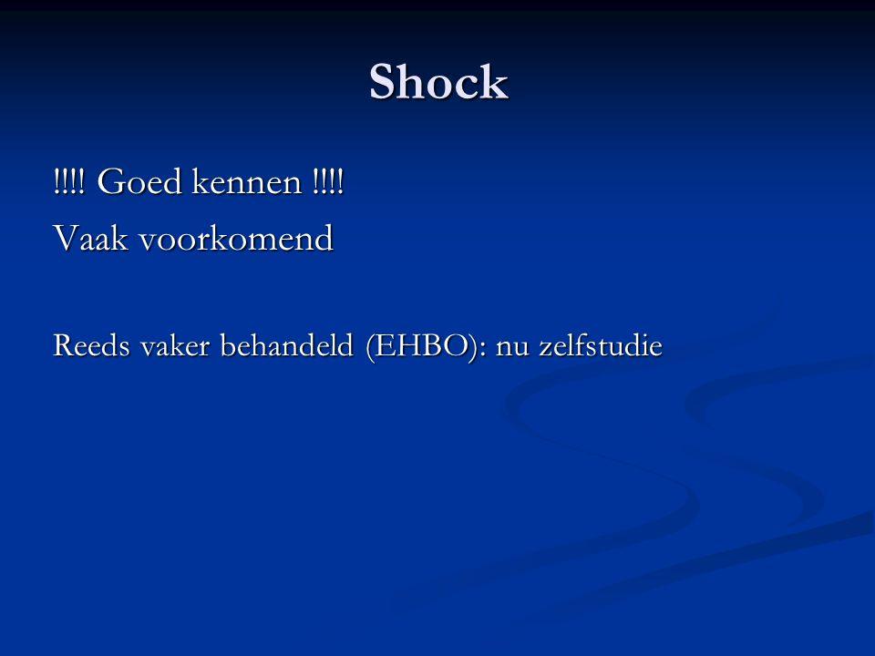 Shock !!!! Goed kennen !!!! Vaak voorkomend