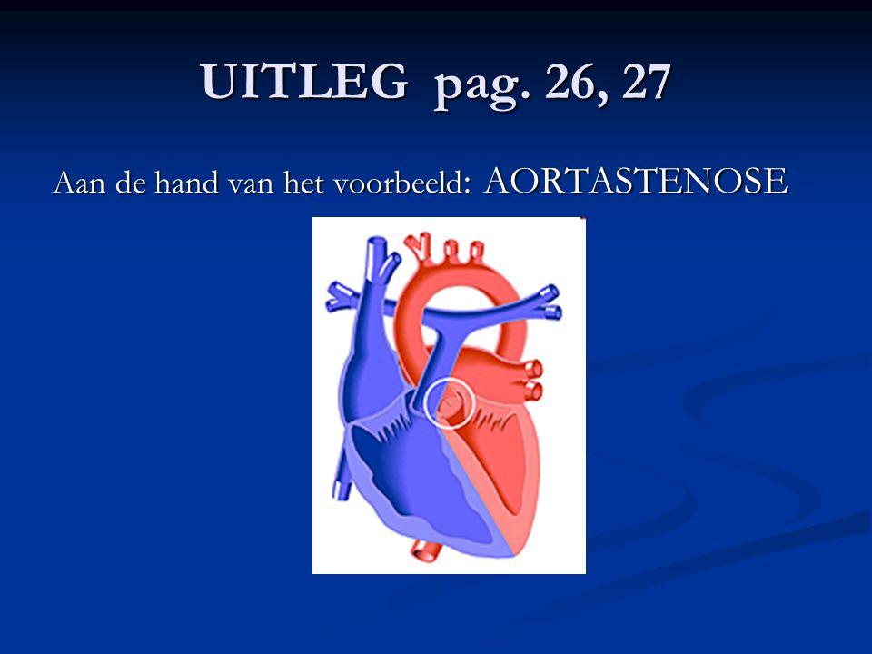 UITLEG pag. 26, 27 Aan de hand van het voorbeeld: AORTASTENOSE