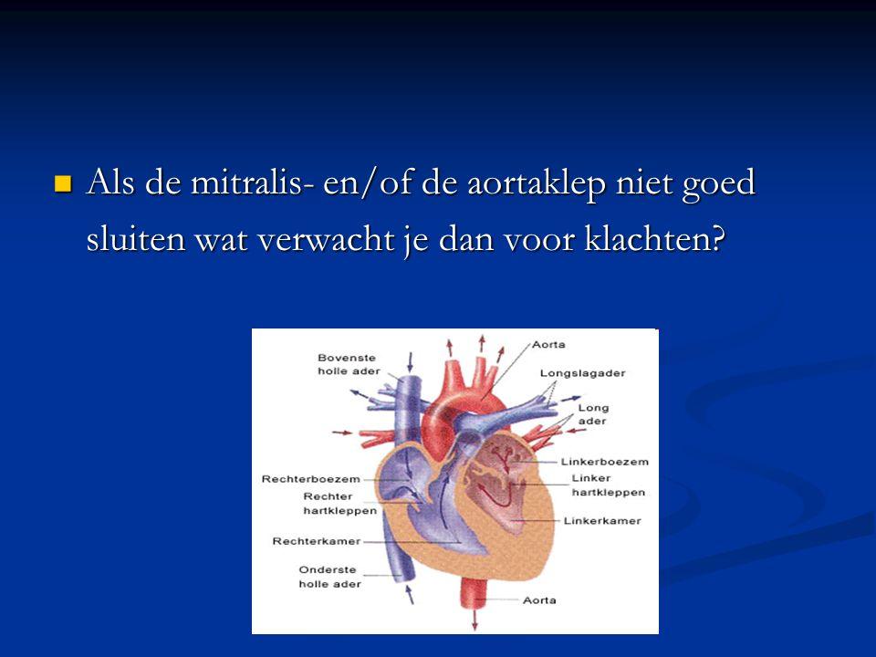 Als de mitralis- en/of de aortaklep niet goed