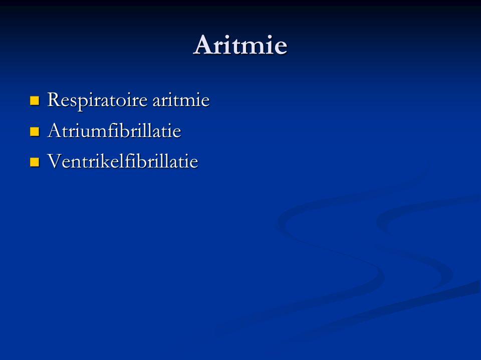 Aritmie Respiratoire aritmie Atriumfibrillatie Ventrikelfibrillatie