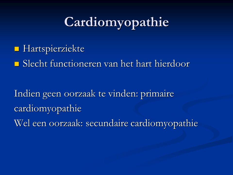 Cardiomyopathie Hartspierziekte