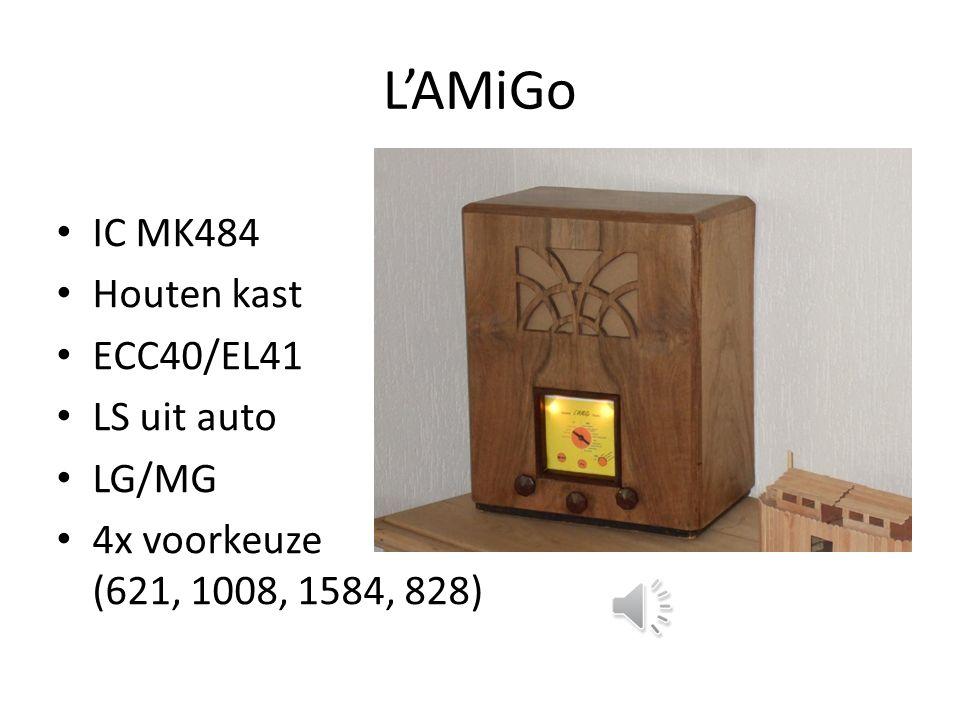 L'AMiGo IC MK484 Houten kast ECC40/EL41 LS uit auto LG/MG