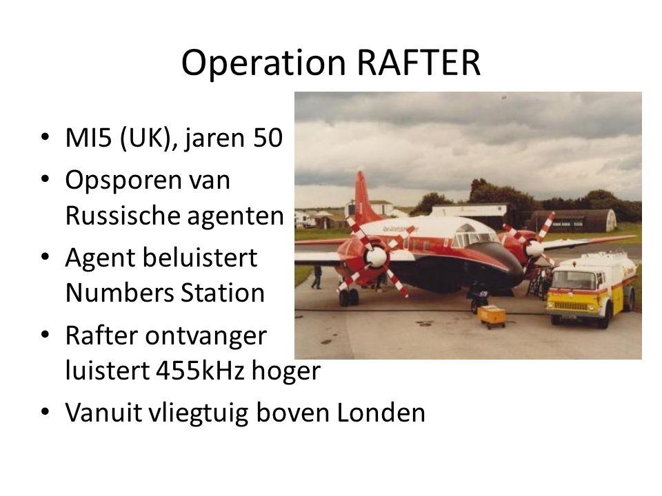 Operation RAFTER MI5 (UK), jaren 50 Opsporen van Russische agenten
