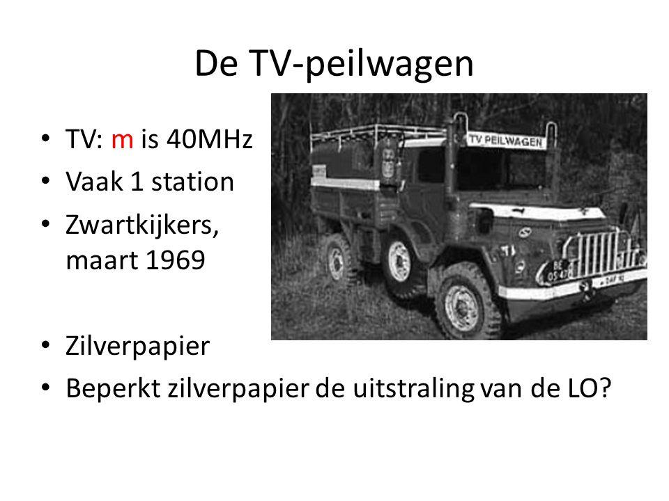 De TV-peilwagen TV: m is 40MHz Vaak 1 station Zwartkijkers, maart 1969