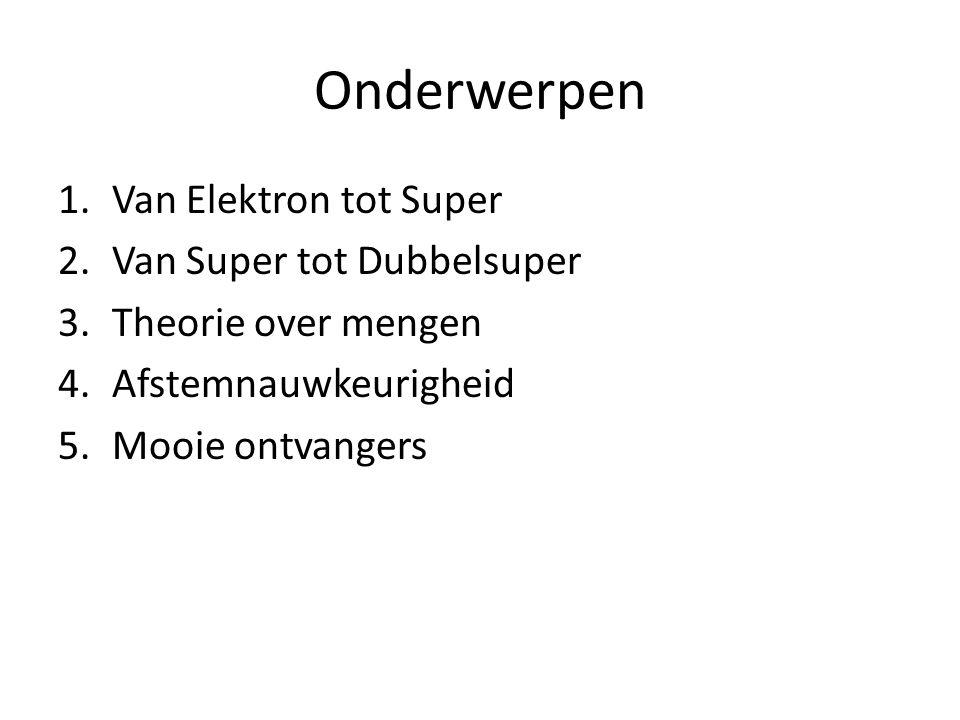 Onderwerpen Van Elektron tot Super Van Super tot Dubbelsuper