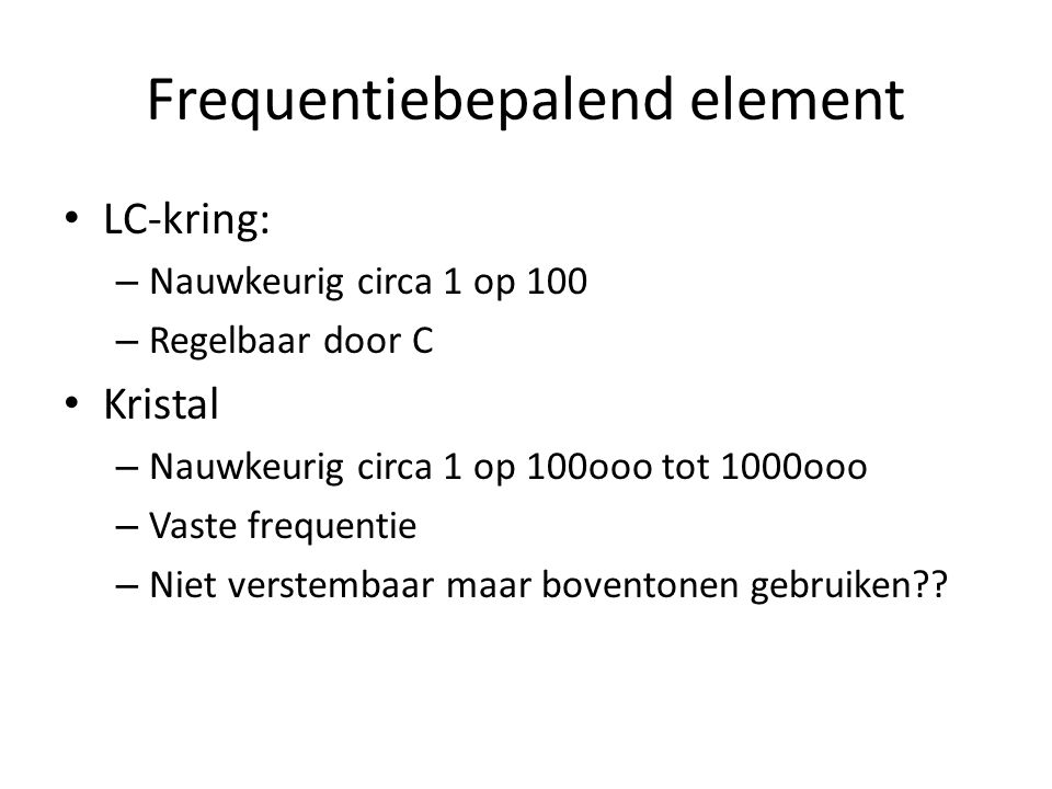Frequentiebepalend element