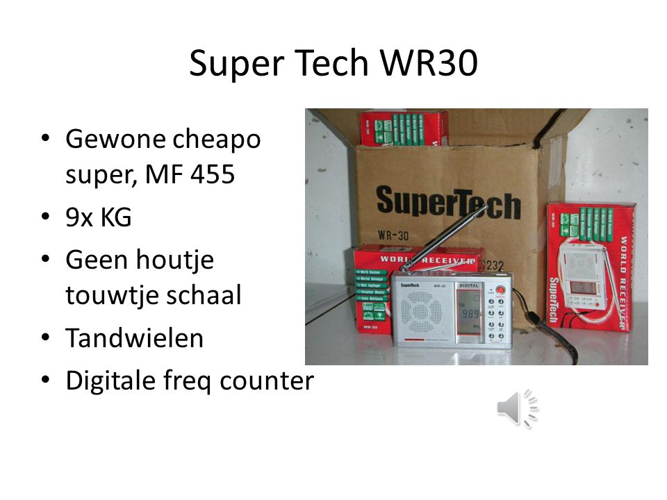 Super Tech WR30 Gewone cheapo super, MF 455 9x KG