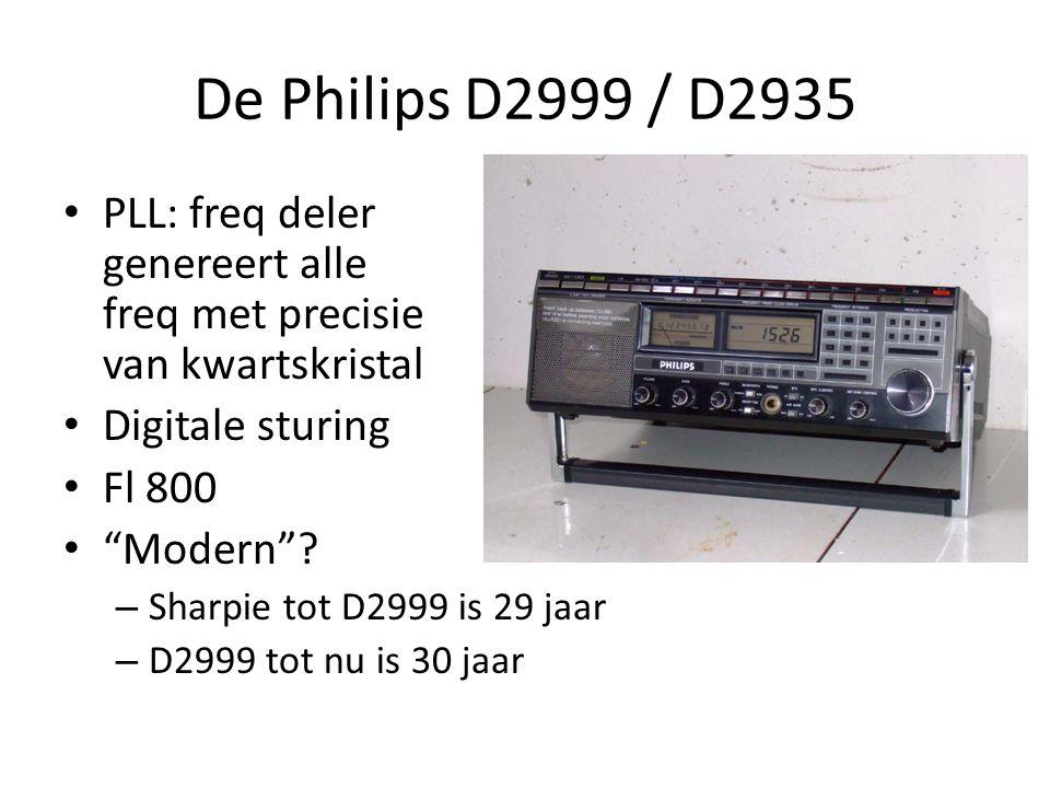 De Philips D2999 / D2935 PLL: freq deler genereert alle freq met precisie van kwartskristal. Digitale sturing.