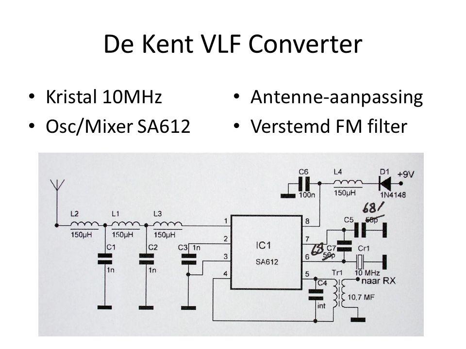 De Kent VLF Converter Kristal 10MHz Antenne-aanpassing Osc/Mixer SA612