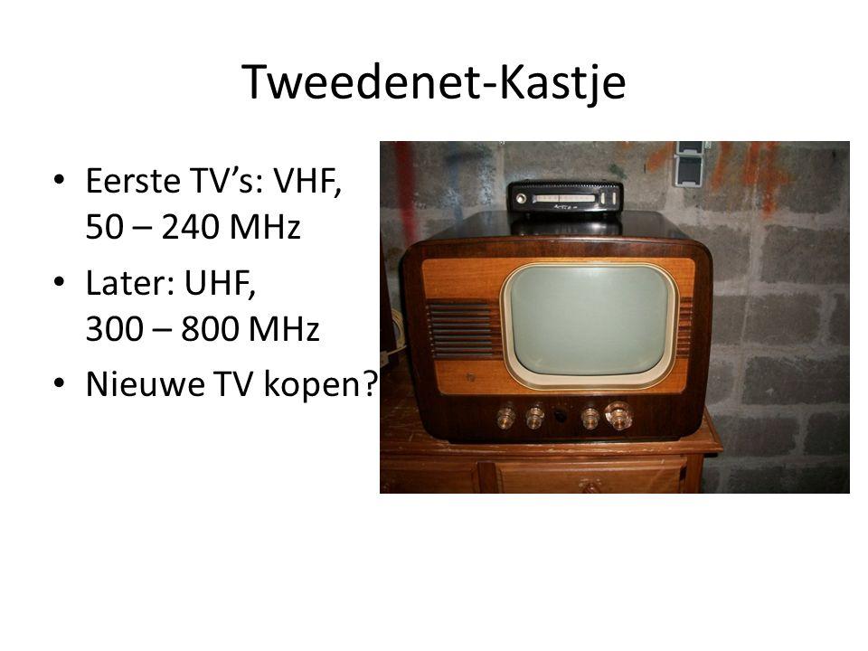 Tweedenet-Kastje Eerste TV's: VHF, 50 – 240 MHz
