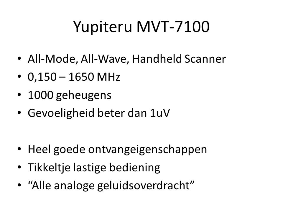 Yupiteru MVT-7100 All-Mode, All-Wave, Handheld Scanner