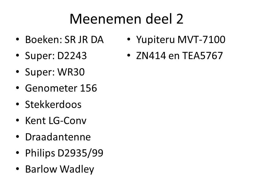 Meenemen deel 2 Boeken: SR JR DA Yupiteru MVT-7100 Super: D2243