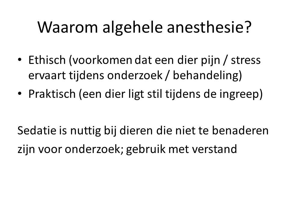 Waarom algehele anesthesie