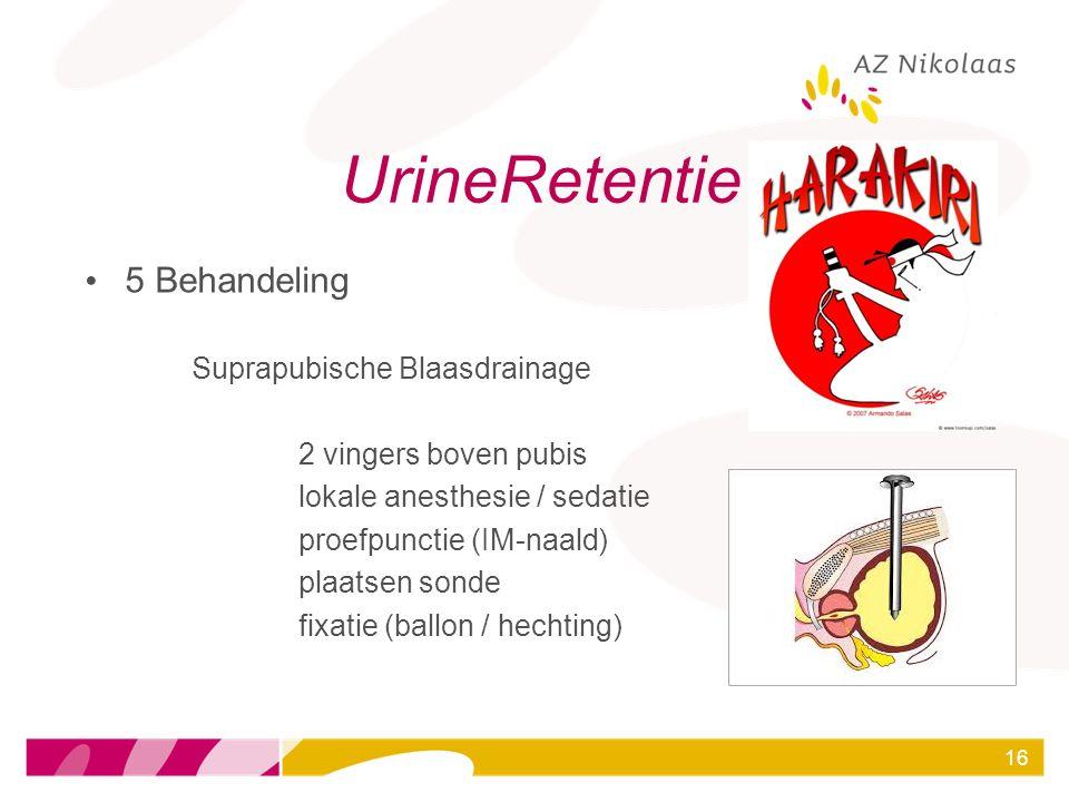 UrineRetentie 5 Behandeling Suprapubische Blaasdrainage