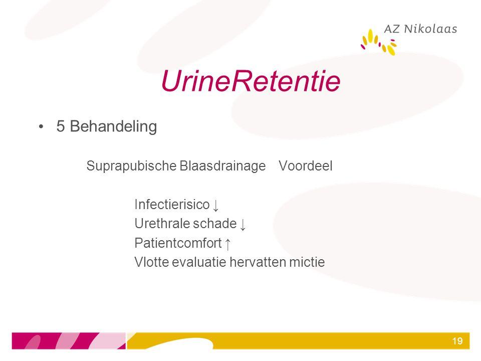 UrineRetentie 5 Behandeling Suprapubische Blaasdrainage Voordeel