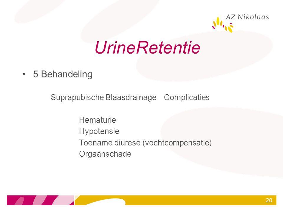 UrineRetentie 5 Behandeling Suprapubische Blaasdrainage Complicaties