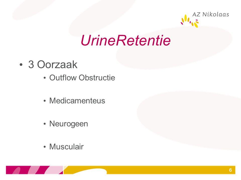 UrineRetentie 3 Oorzaak Outflow Obstructie Medicamenteus Neurogeen