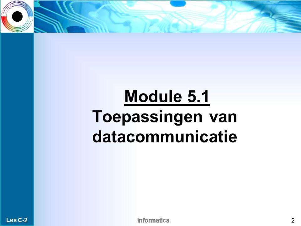 Module 5.1 Toepassingen van datacommunicatie