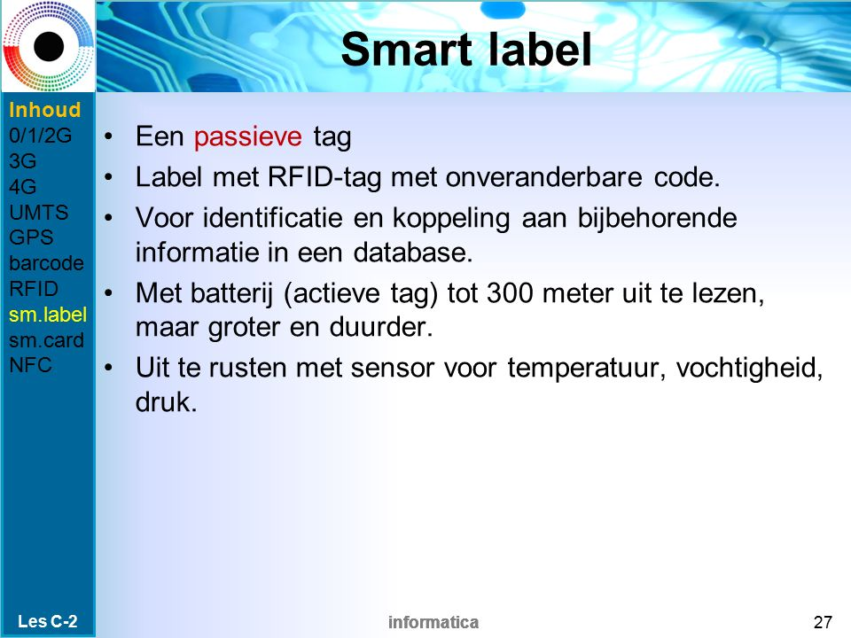 Smart label Een passieve tag