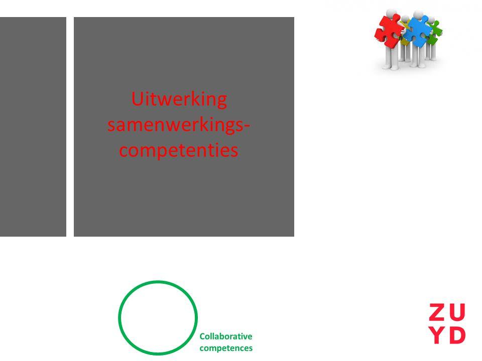 Uitwerking samenwerkings-competenties