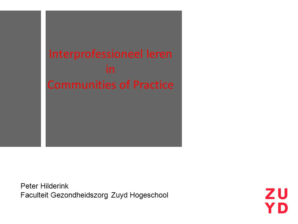 Interprofessioneel leren in Communities of Practice