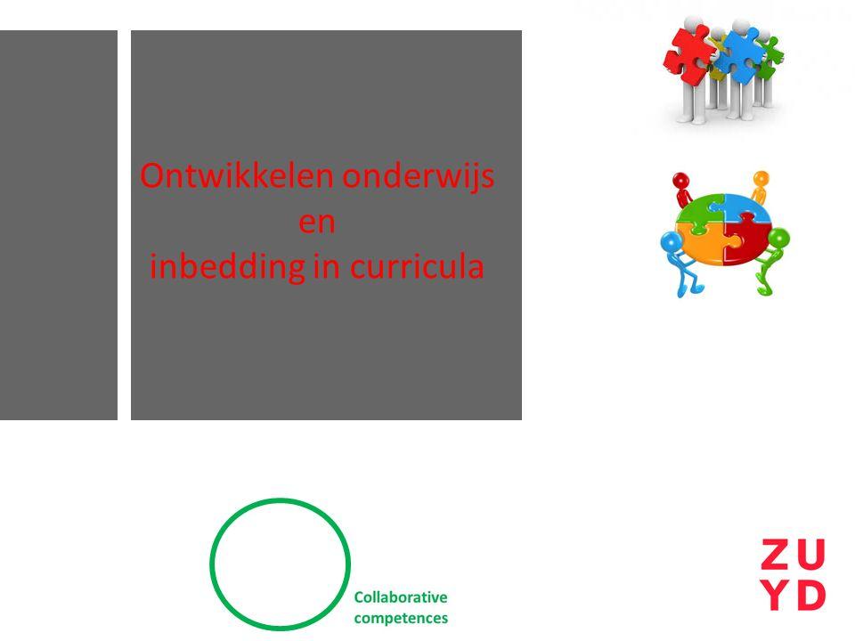 Ontwikkelen onderwijs en inbedding in curricula