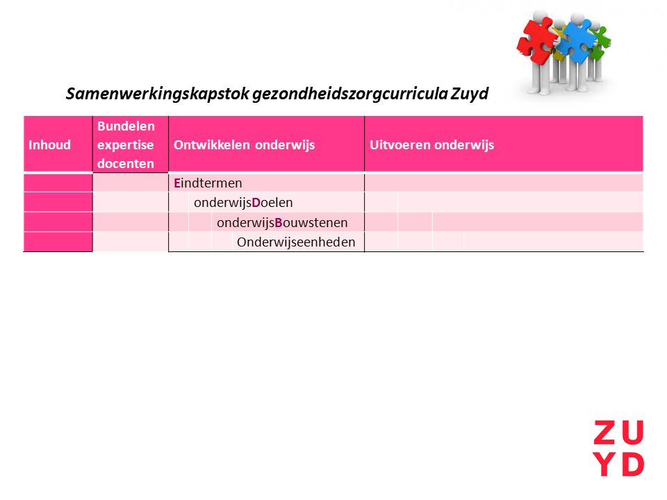 Samenwerkingskapstok gezondheidszorgcurricula Zuyd