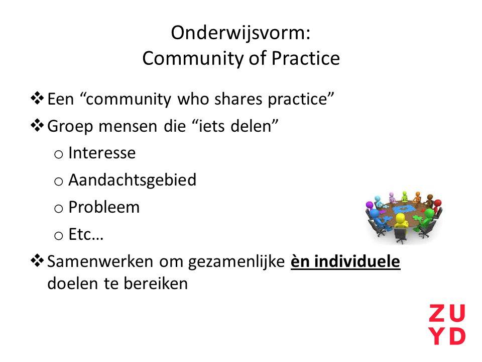 Onderwijsvorm: Community of Practice