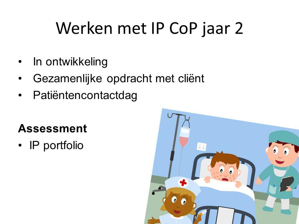 Werken met IP CoP jaar 2 In ontwikkeling