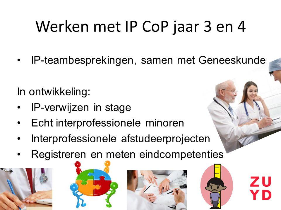 Werken met IP CoP jaar 3 en 4