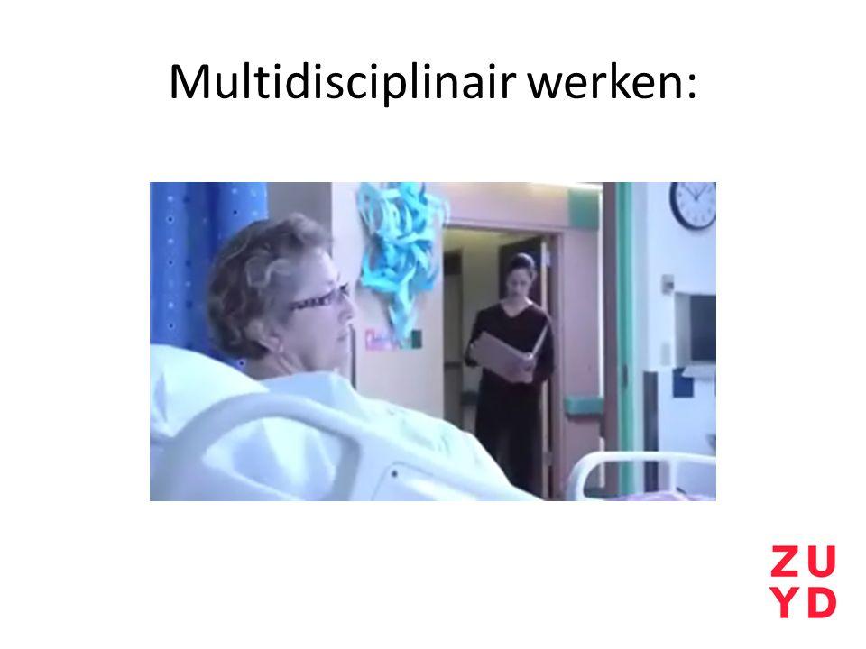 Multidisciplinair werken: